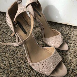studded nude heels